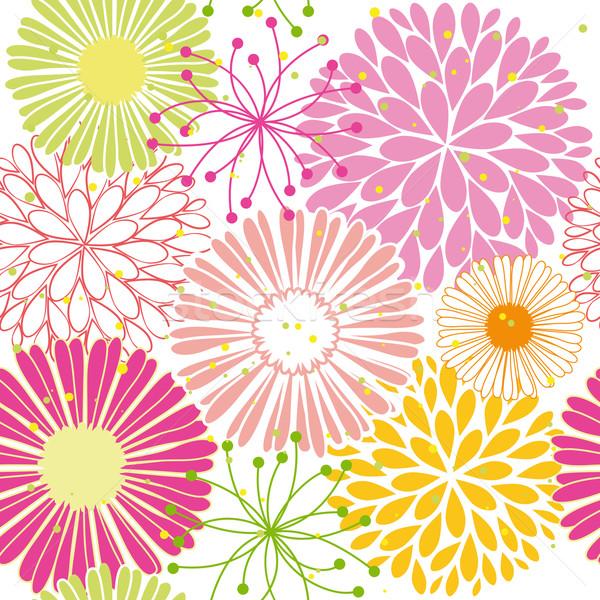 Bahar renkli çiçek soyut yeşil Stok fotoğraf © meikis