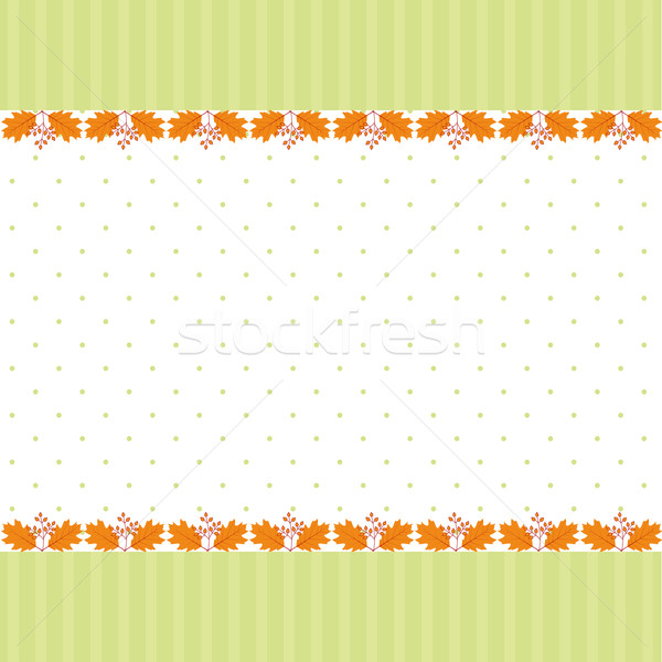 Résumé automne feuille carte de vœux arbre Photo stock © meikis