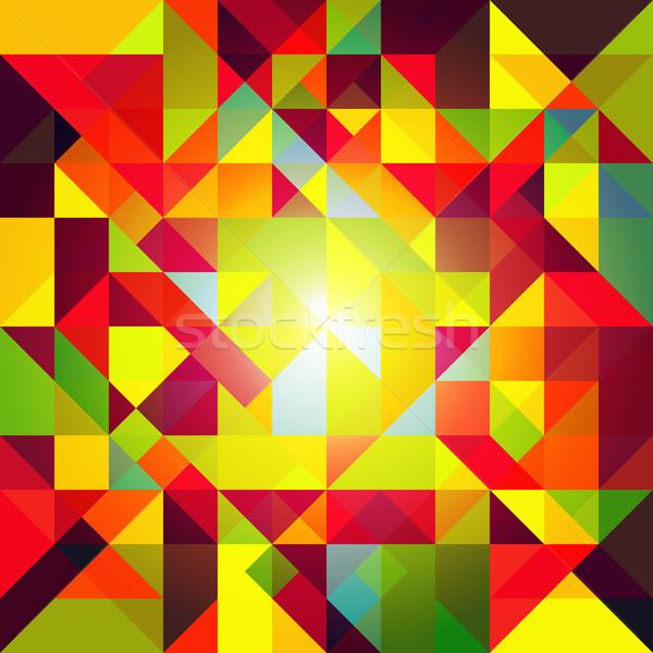 Soyut renkli geometrik duvar kağıdı iş arka plan Stok fotoğraf © meikis