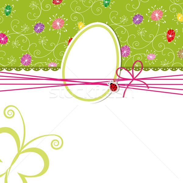 Foto stock: Páscoa · férias · cartão · colorido · abstrato