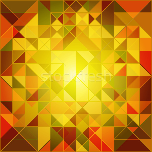 Abstract Autumn Colors Geometric Background Stock photo © meikis