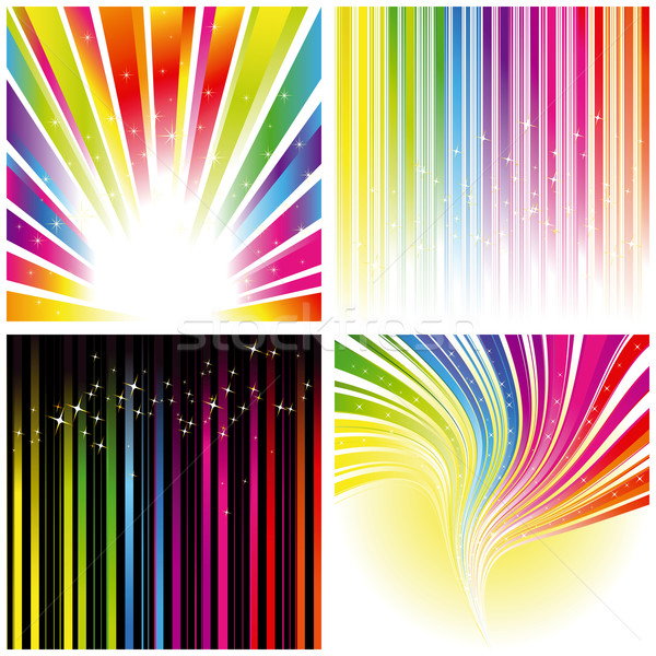 Abstract set of rainbow color stripe background Stock photo © meikis