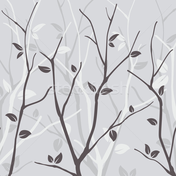 Abstract seamless pattern with leaves Stock photo © meikis