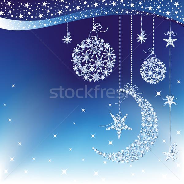 Stok fotoğraf: Neşeli · Noel · tebrik · kartı · parti · mutlu · soyut
