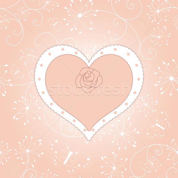 Résumé Valentin jour carte de vœux mariage amour Photo stock © meikis