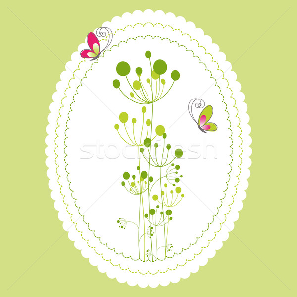 Spring summer floral greeting card Stock photo © meikis