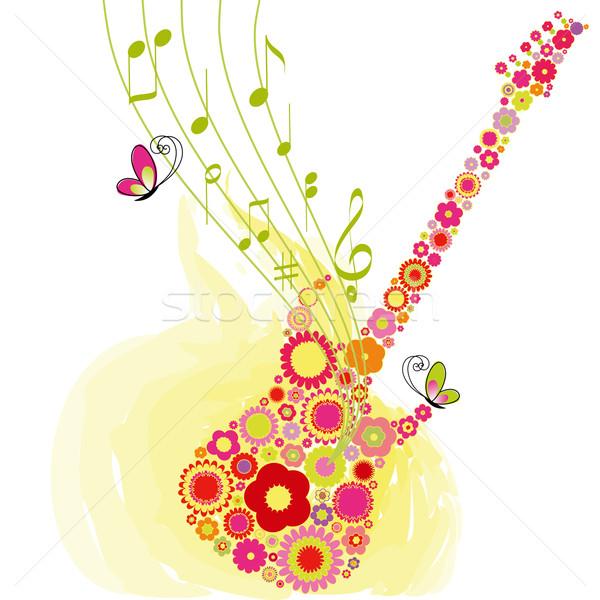 Primavera fiore chitarra festival di musica abstract musica Foto d'archivio © meikis