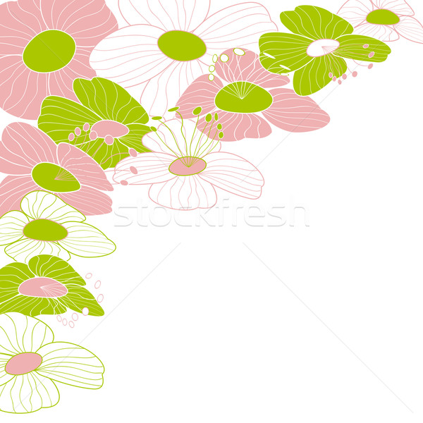 Résumé coloré fleur cadre design fond Photo stock © meikis