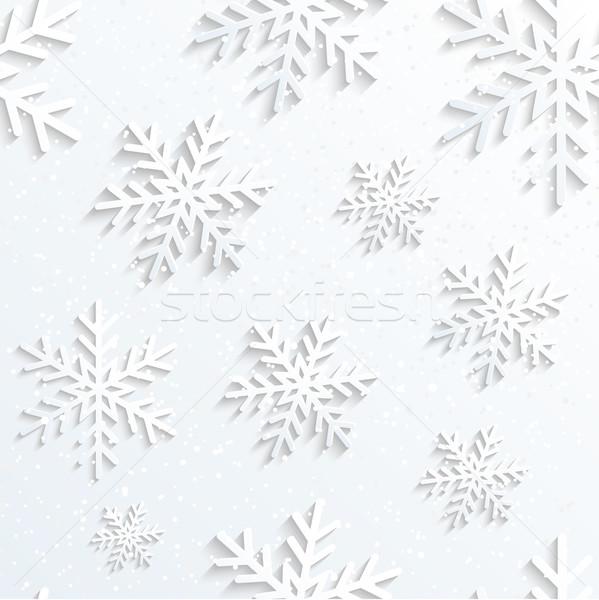 Noël flocon de neige blanche wallpaper fleur résumé Photo stock © meikis
