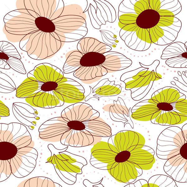 Photo stock: Résumé · coloré · floral · printemps · nature