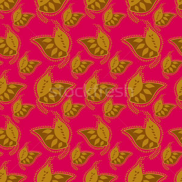 Foto stock: Colorido · indio · estilo · rojo · resumen
