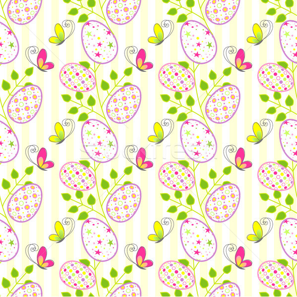 Colorful Easter holiday seamless pattern Stock photo © meikis