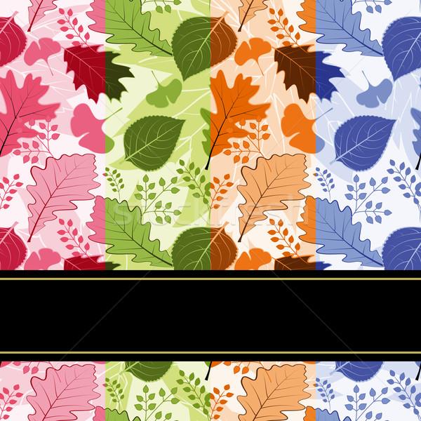 Coloré quatre saison laisse fleur Photo stock © meikis
