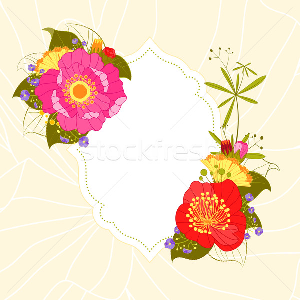 Spring Summer Colorful Flower Garden Party Background Stock photo © meikis