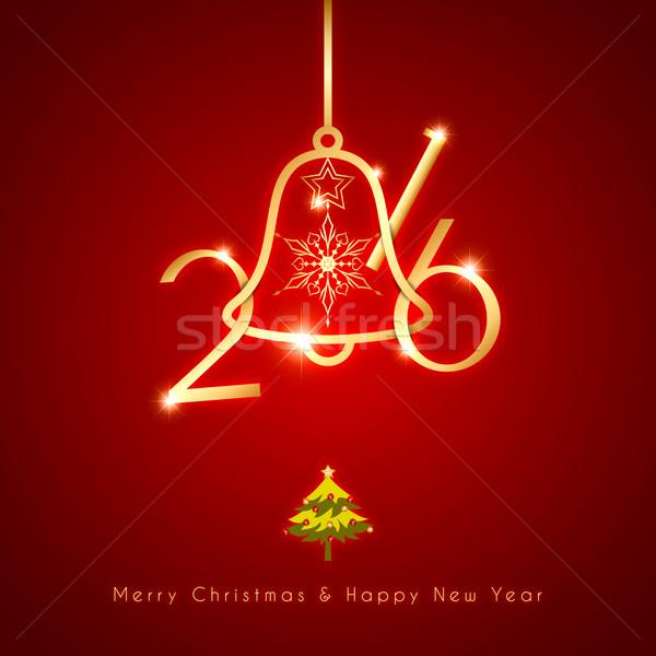 Ano novo natal férias celebração abstrato neve Foto stock © meikis