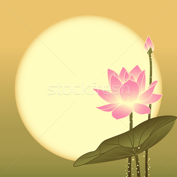 Oriental Mid Autumn Festival Lotus Flower Stock photo © meikis