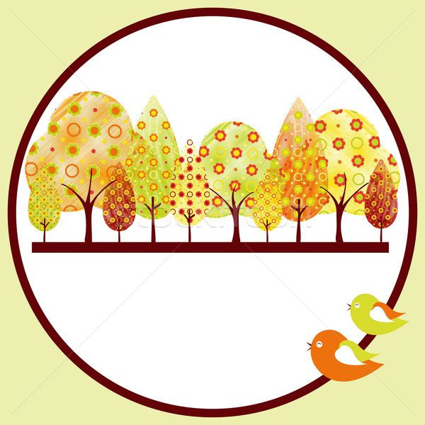 Abstract colorful autumn tree background  Stock photo © meikis