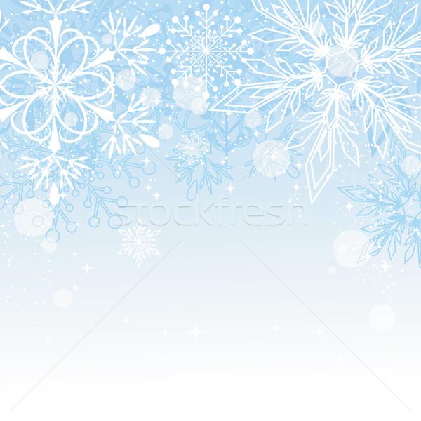 Noel mavi bo arka plan beyaz kutlama Stok fotoğraf © meikis