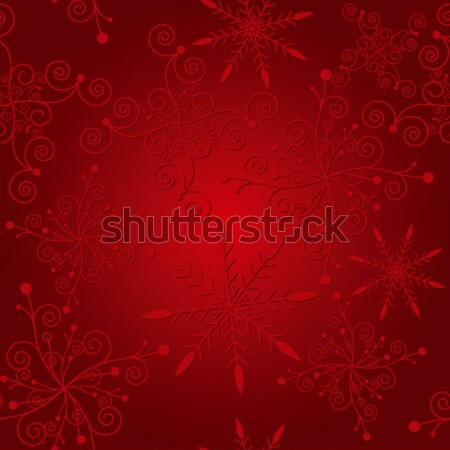 Abstract elegance red christmas snowflake seamless pattern Stock photo © meikis