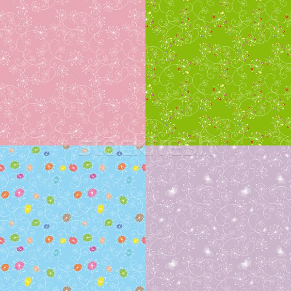 Photo stock: Floral · coloré · fleur · printemps