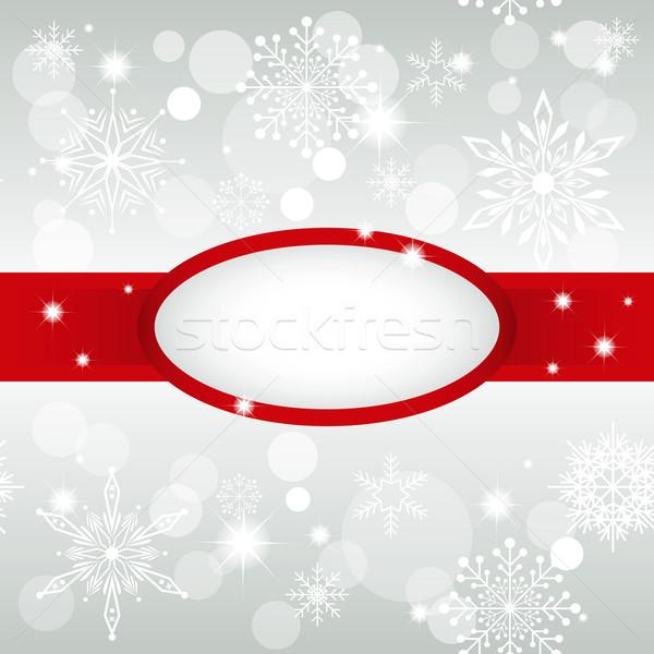 Noël carte de vœux flocon de neige star fond hiver Photo stock © meikis