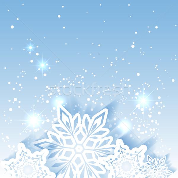 Natal estrela floco de neve cartão flor Foto stock © meikis