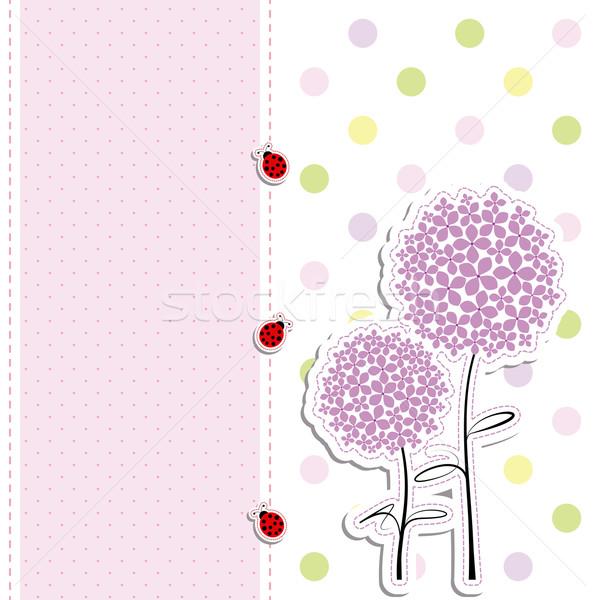Pourpre à pois fleur printemps fond Photo stock © meikis