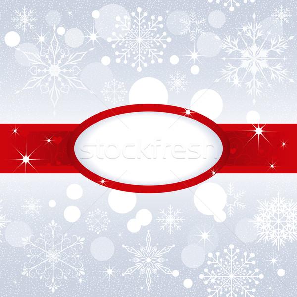 Christmas snowflake on silver color background Stock photo © meikis