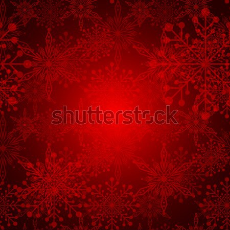 Résumé rouge Noël flocon de neige fleur hiver Photo stock © meikis