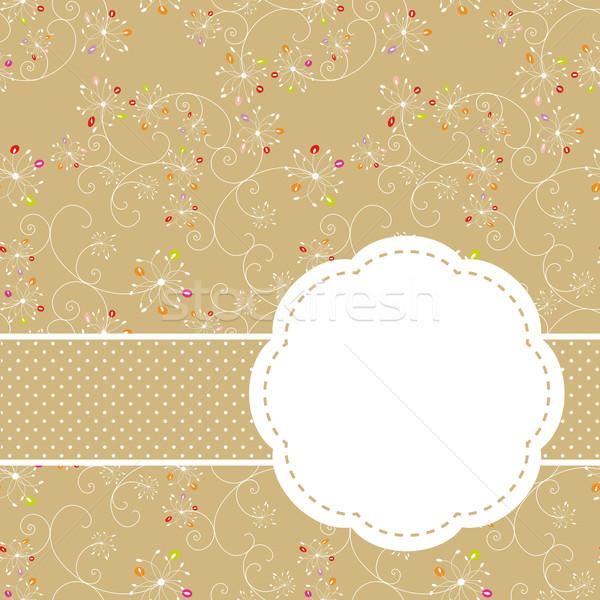 Printemps coloré floral carte de vœux printemps Photo stock © meikis