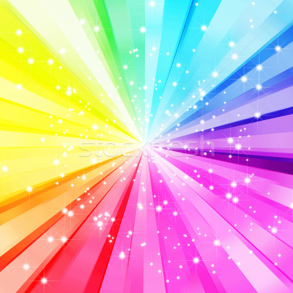 Résumé star coloré Rainbow Photo stock © meikis