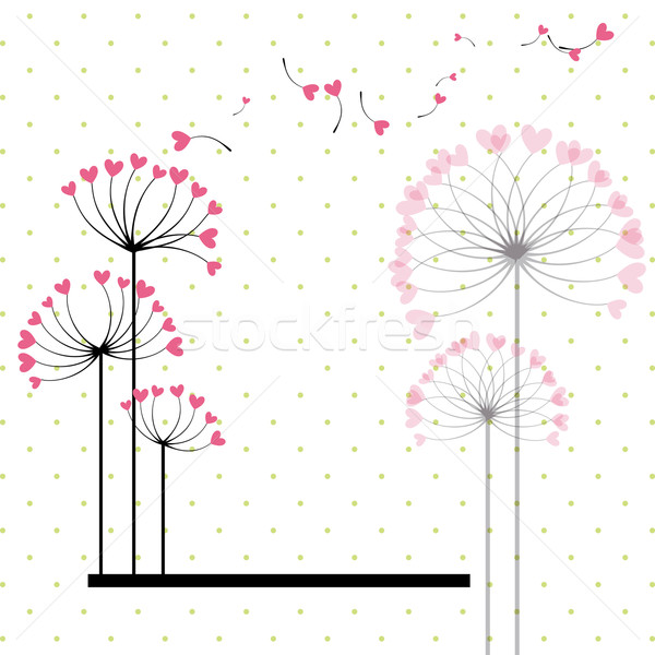 Abstract love flower on polka dot background Stock photo © meikis