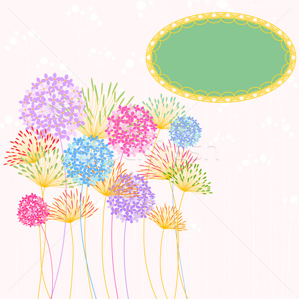 Colorful Hydrangea Flower Garden Party Background Stock photo © meikis
