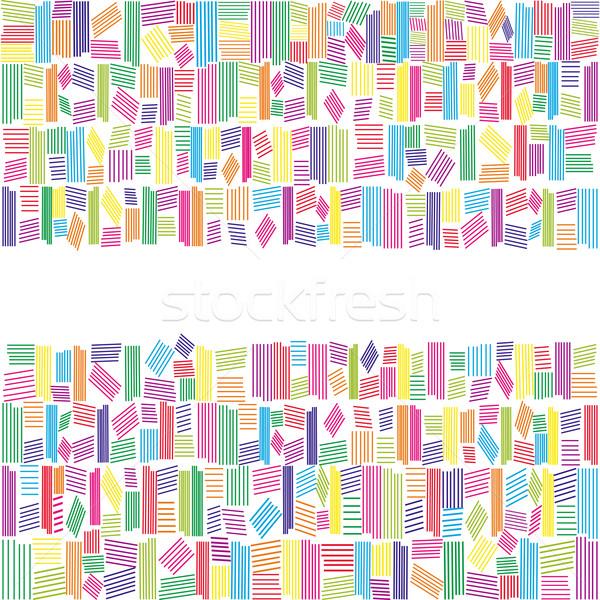 抽象的な 虹色 バナー 白 背景 フレーム ストックフォト © meikis