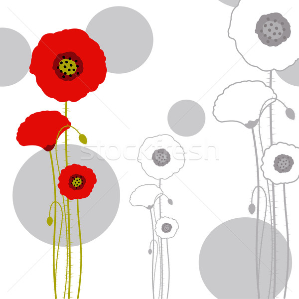 Abstract Rood poppy ontwerp kunst Stockfoto © meikis