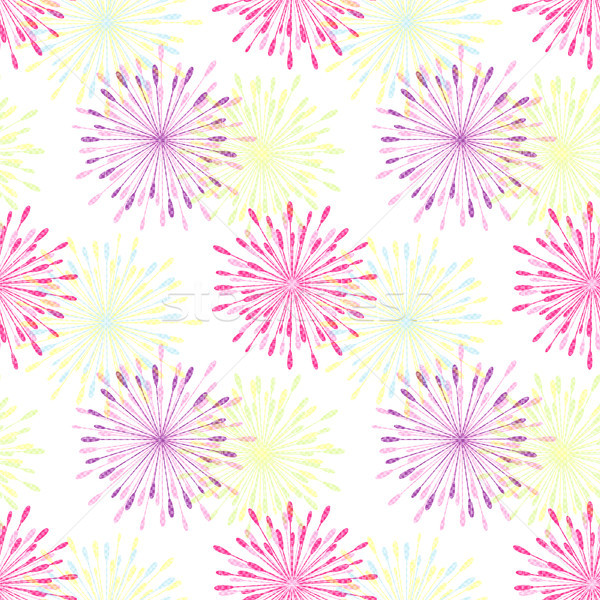 Photo stock: Coloré · fleur · printemps · fond · vert