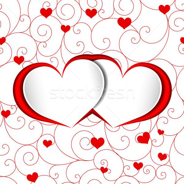 Valentin forme de coeur rouge amour fleur résumé Photo stock © meikis
