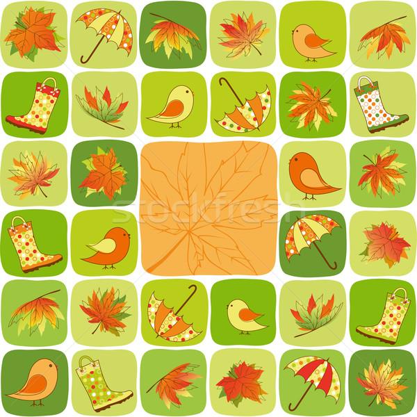 Coloré automne illustration résumé enfants Photo stock © meikis