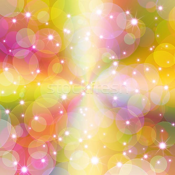 Photo stock: Coloré · résumé · fête · lumière · vert