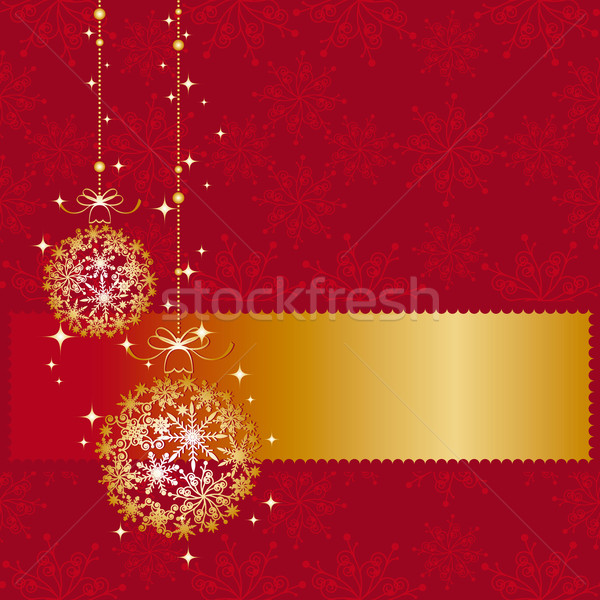 Foto stock: Natal · ornamento · cartão · arte · inverno