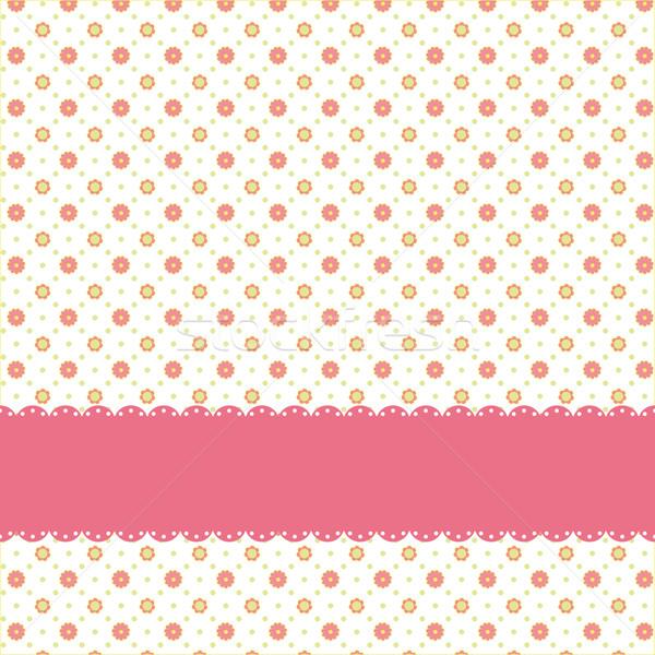 ピンクの花 ピンクリボン 花 背景 ストックフォト © meikis