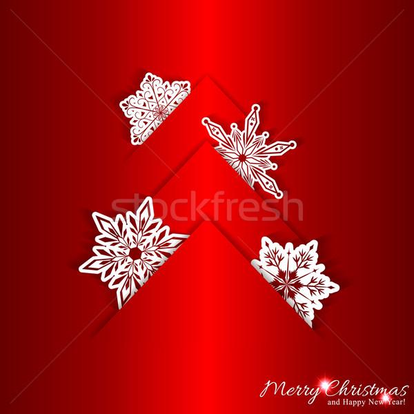 Red Christmas Background Stock photo © meikis