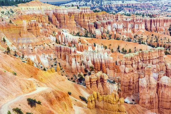 Belo paisagem desfiladeiro magnífico pedra formação Foto stock © meinzahn