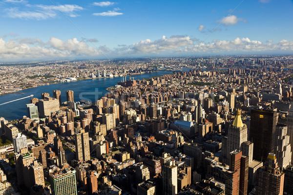 Görmek Empire State Binası New York iş gökyüzü duvar Stok fotoğraf © meinzahn