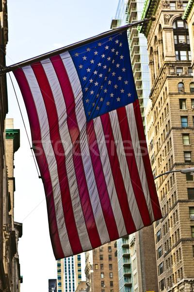 звезды Нью-Йорк улице флаг вместе Сток-фото © meinzahn