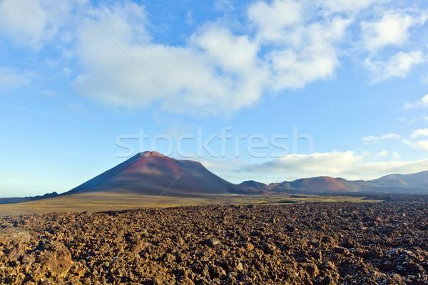 Volcán parque España cielo naturaleza paisaje Foto stock © meinzahn