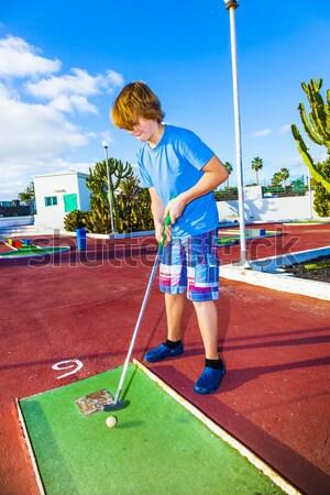 boy loves to play Mini-Golf Stock photo © meinzahn