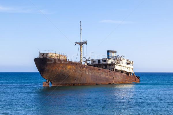 Naufrágio canárias Espanha água construção barco Foto stock © meinzahn