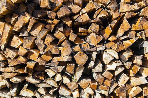 stapled fire wood Stock photo © meinzahn