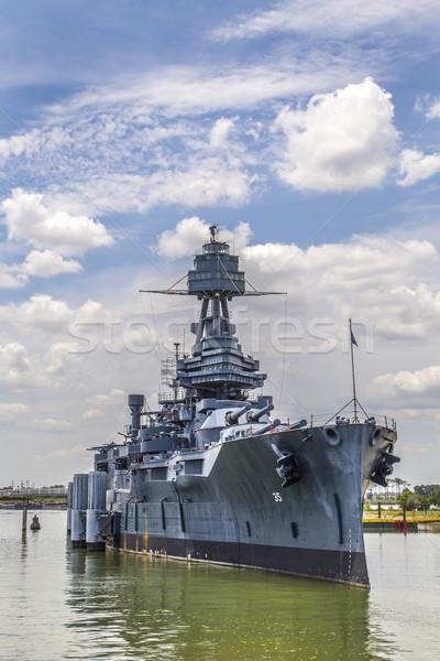Híres csatahajó Texas fém csónak hajó Stock fotó © meinzahn